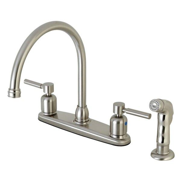Centurion Centerset Gooseneck Spout Double Handle Kitchen Faucet by Kingston Brass