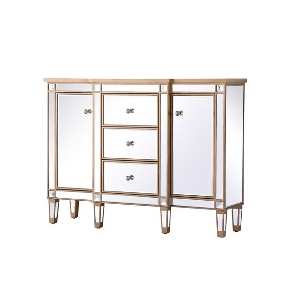 2 Door Mirrored Apothecary Square Accent Cabinet by Prestige Prestige