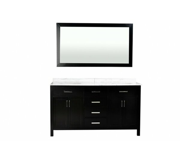 Weatherford 60 Double Bathroom Vanity Set with Mirror by Orren Ellis