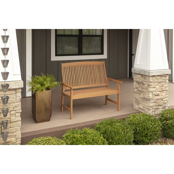 Ardal Teak Garden Bench by Highland Dunes