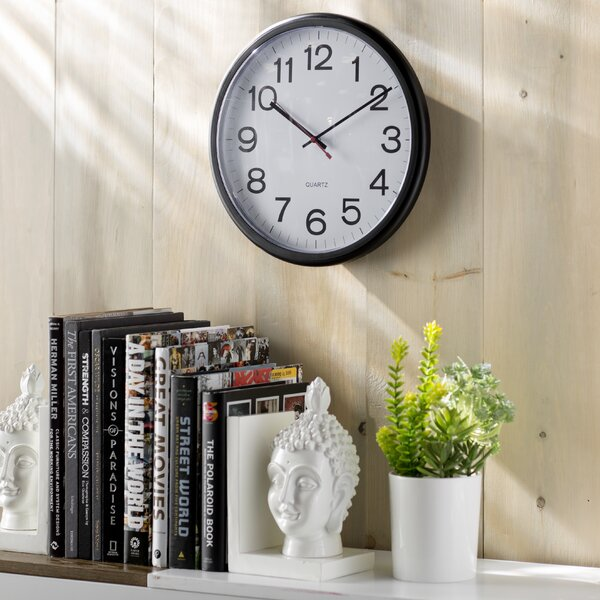 Wayfair Basics Indoor/Outdoor Round Wall Clock by Wayfair Basics™
