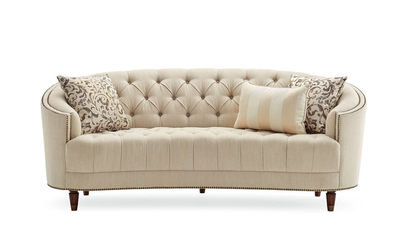 Darby Home Co Frederic Tufted Curved Sofa Reviews Wayfair