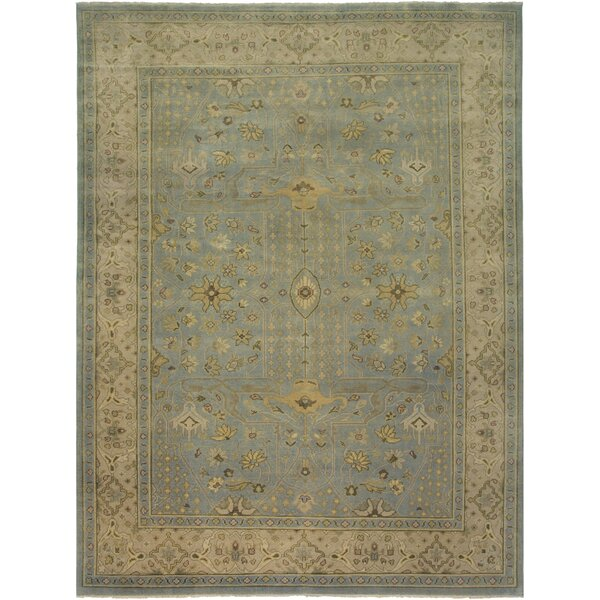 Liverpool Light Blue Hand-Knotted Area Rug by Alcott Hill