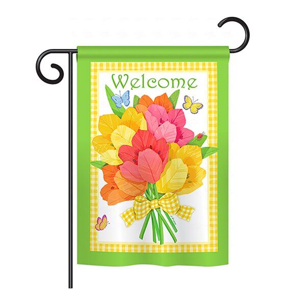 Flower Bouquet 2-Sided Vertical Flag by Breeze Decor
