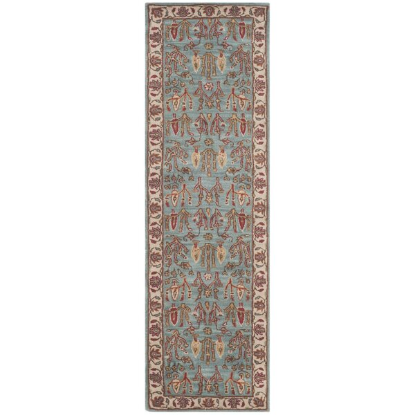 Malone Hand Tufted Wool Blue/Brown Area Rug by Alcott Hill