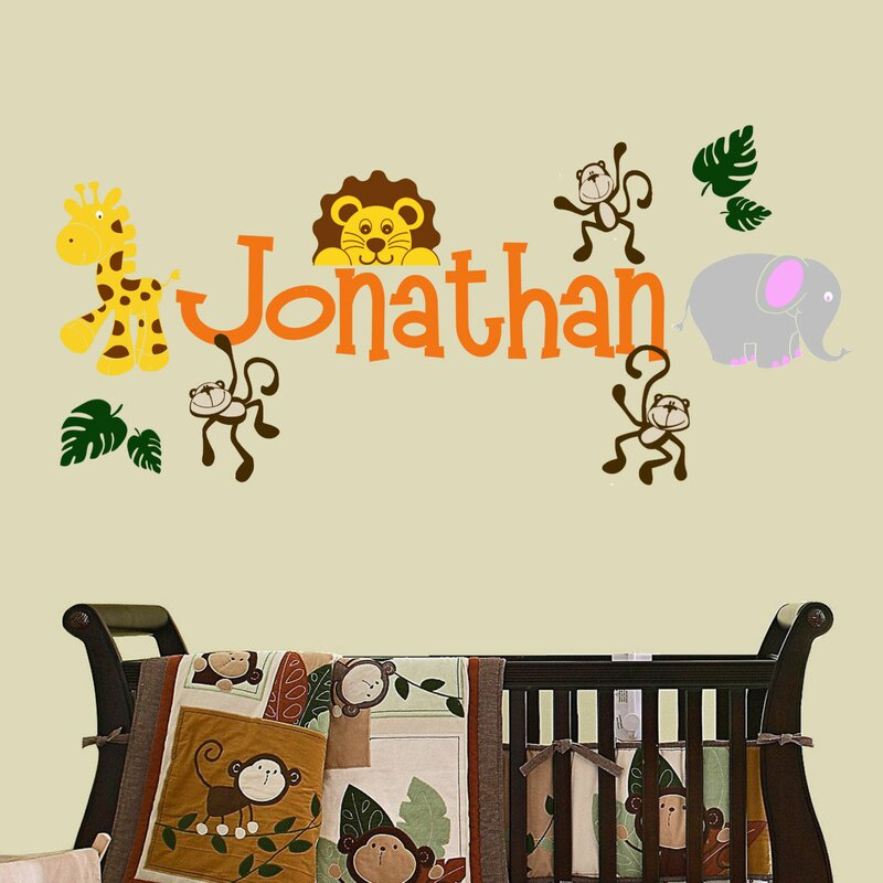 DecaltheWalls Personalized Jungle Theme Wall Decal Reviews Wayfair - Jungle theme wall decals