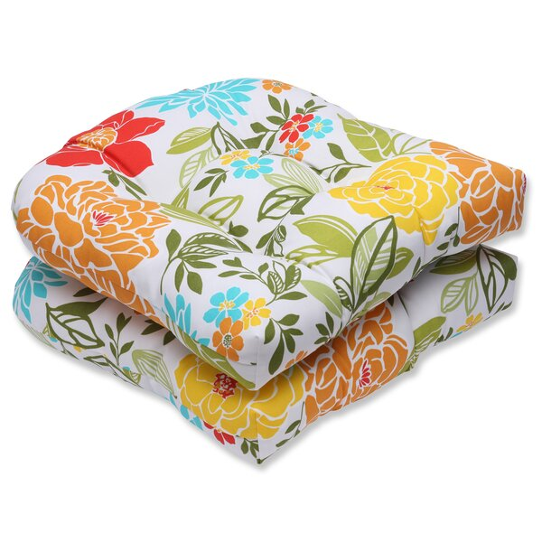 Spring Bling Indoor/Outdoor Dining Chair Cushion (Set of 2) by Pillow Perfect
