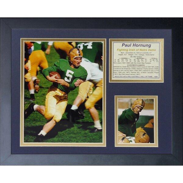 Paul Hornung - Notre Dame Framed Memorabilia by Legends Never Die