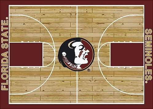 NCAA College Home Court Florida State Novelty Rug by My Team by Milliken