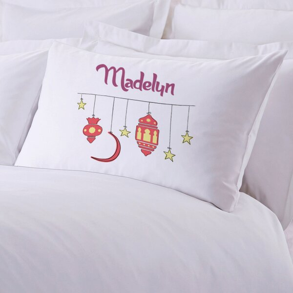 Personalized Stars and Lanterns Pillowcase by Monogramonline Inc.