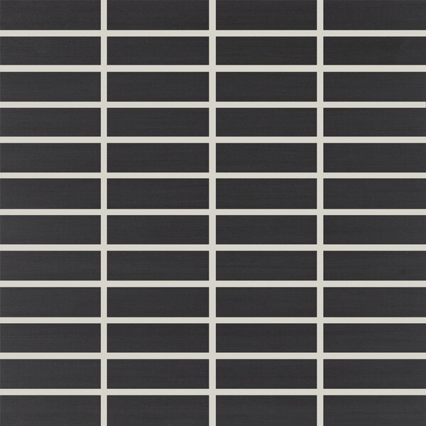 Refinery 1 x 3 Porcelain Mosaic Tile in Nighttime by PIXL