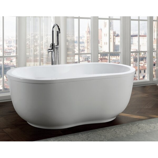 Brescia 65 x 34 Freestanding Soaking Bathtub by Bellaterra Home