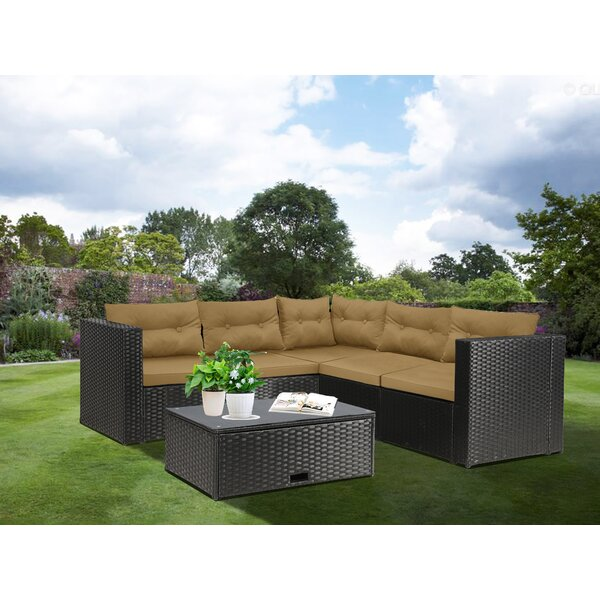 Bliss 5 Piece Sectional Seating Group with Cushions by Latitude Run