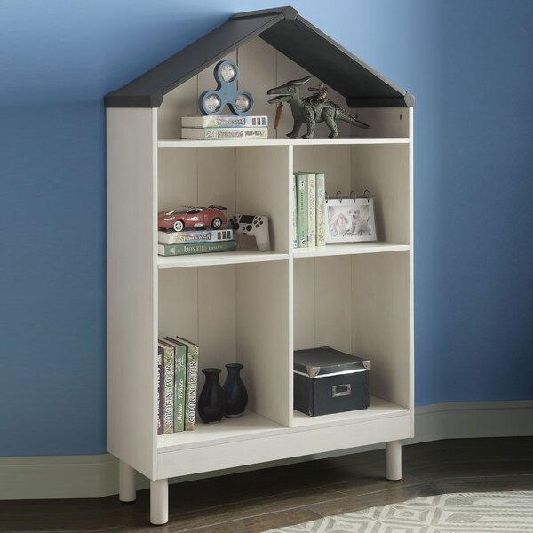Eyota Hut Shape Wooden Standard Bookcase by Harriet Bee