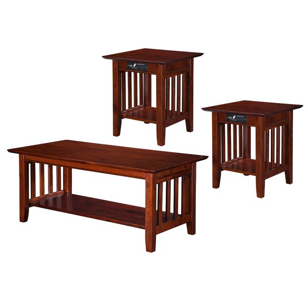 Katalina Charging Station 3 Piece Coffee Table Set by Grovelane Teen Grovelane Teen