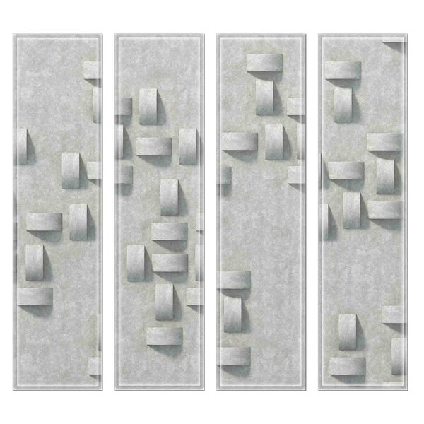 Crystal 3 x 12 Beveled Glass Subway Tile in Silver Gray by Upscale Designs by EMA