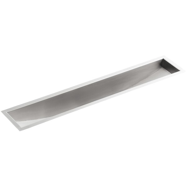 Undertone 33 L x 8-1/4 W x 6-5/16 Under-Mount Single-Bowl Trough Kitchen Sink by Kohler