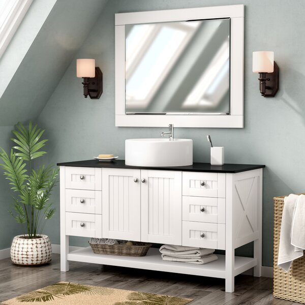 "Nadel 48"" Single Bathroom Vanity Set with Mirror by Beachcrest Home"
