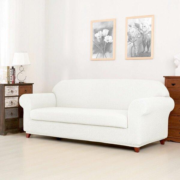 Raised Dots Box Cushion Sofa Slipcover by Winston Porter