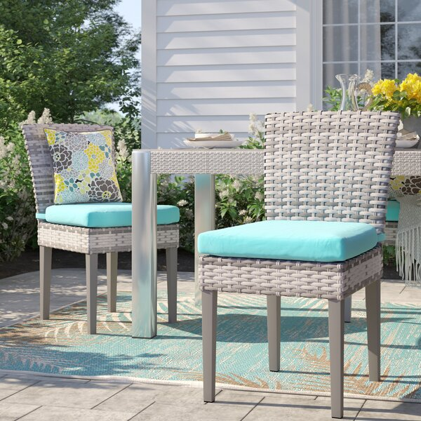 Falmouth Patio Dining Chair with Cushion (Set of 2) by Sol 72 Outdoor Sol 72 Outdoor