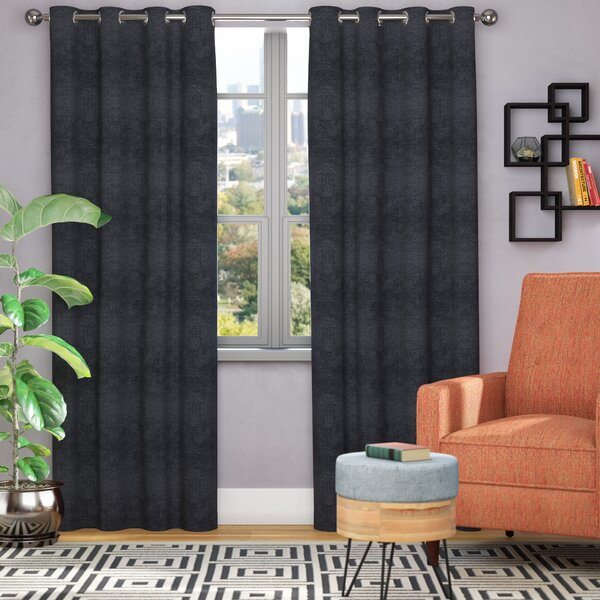 Bruno Solid Room Darkening Thermal Grommet Curtain Panels (Set of 2) by Langley Street