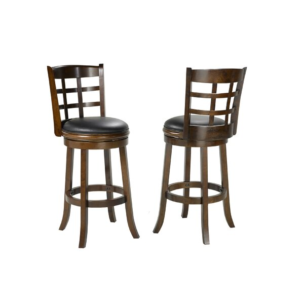Hilal 29 Swivel Bar Stool (Set of 2) by Red Barrel Studio