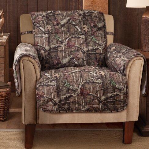 Breakup Infinity Box Cushion Armchair Slipcover by Mossy Oak