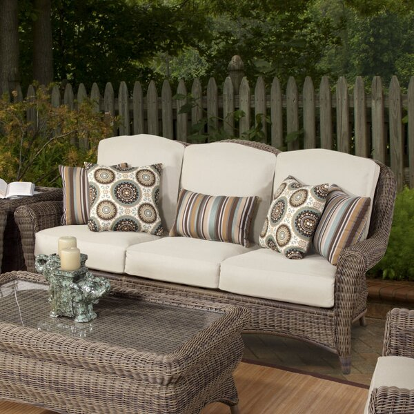 Provence Loveseat with Cushions by South Sea Rattan