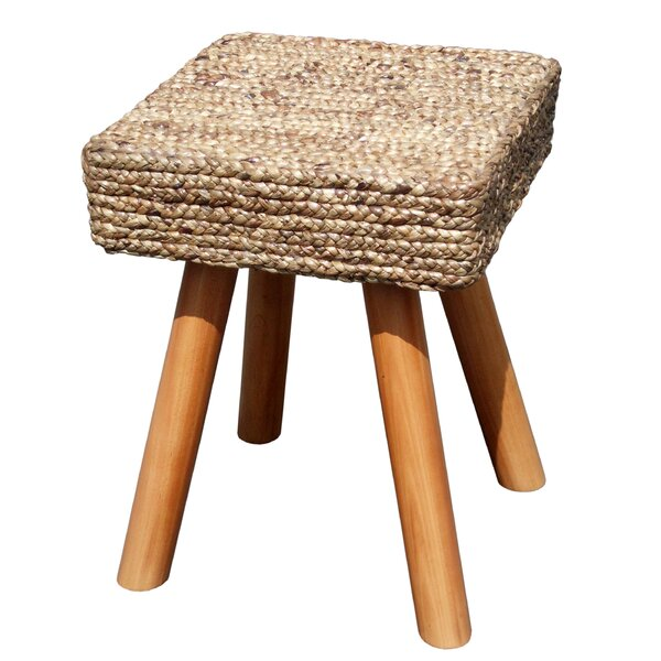 Island Woven Square Accent Stool by D-Art Collection