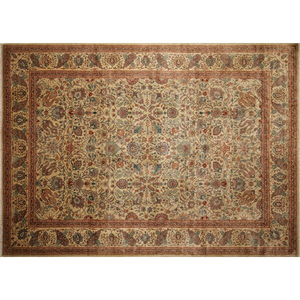 Peshawar Aru Hand Knotted Wool Light Gray Area Rug by Darby Home Co