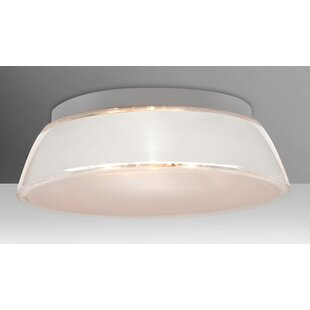 Check Prices Pica 3-Light Outdoor Flush Mount By Besa Lighting