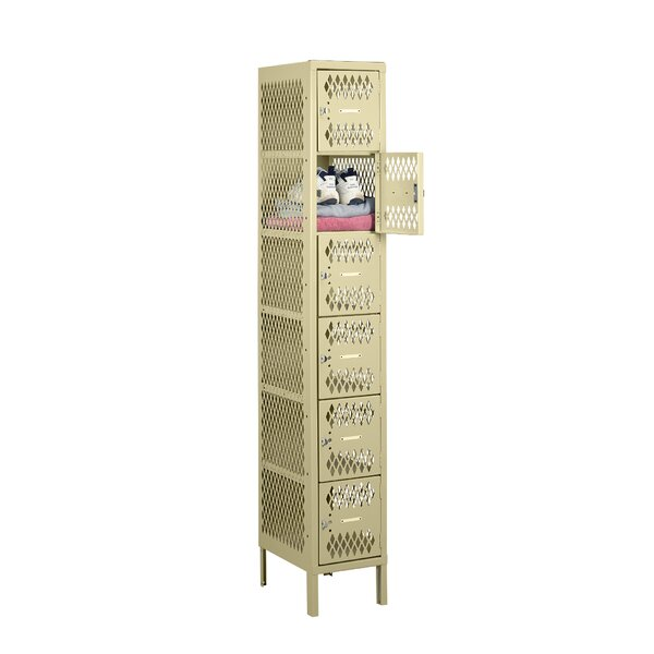 6 Tier 1 Wide Gym and Locker Room Locker by Tennsco Corp.