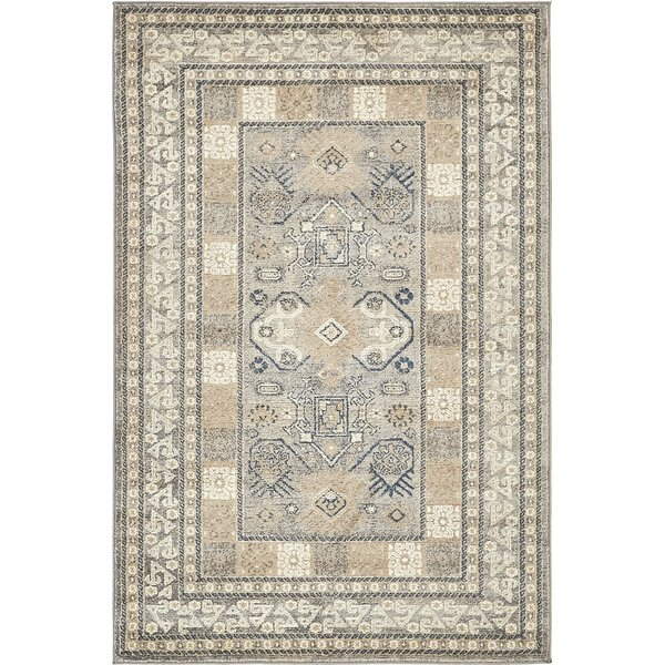 Basswood Gray Area Rug by Alcott Hill