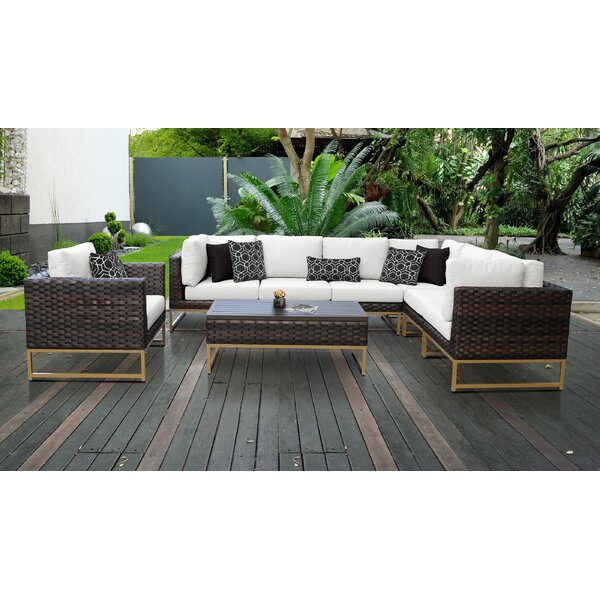Barcelona 8 Piece Sectional Seating Group with Cushions by TK Classics