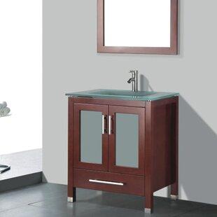 Reviews Amara 30 Single Bathroom Vanity Set with Mirror ByAdornus