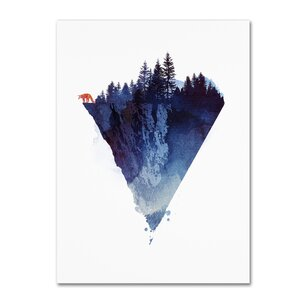 Near To the Edge by Robert Farkas Graphic Art on Wrapped Canvas by Trademark Fine Art