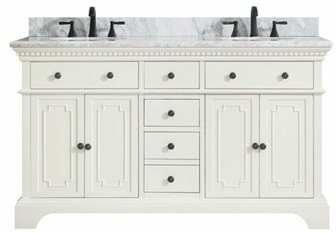 Ruthann Marble Top 61 Double Bathroom Vanity Set by Ophelia & Co.