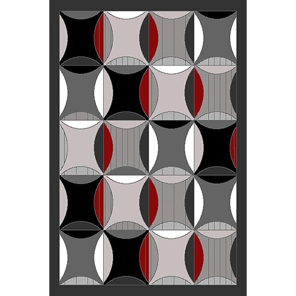 Cosner Gray Area Rug by Ebern Designs