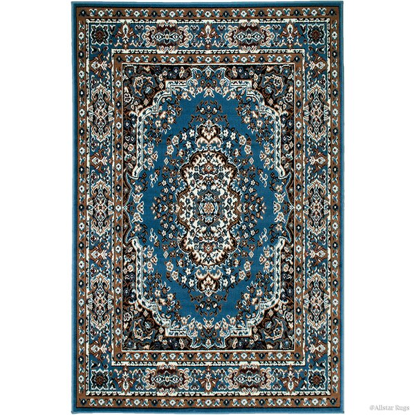 Hand-Woven Blue Area Rug by AllStar Rugs