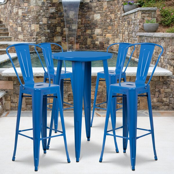 Williamston 5 Piece Bar Height Dining Set by Latitude Run