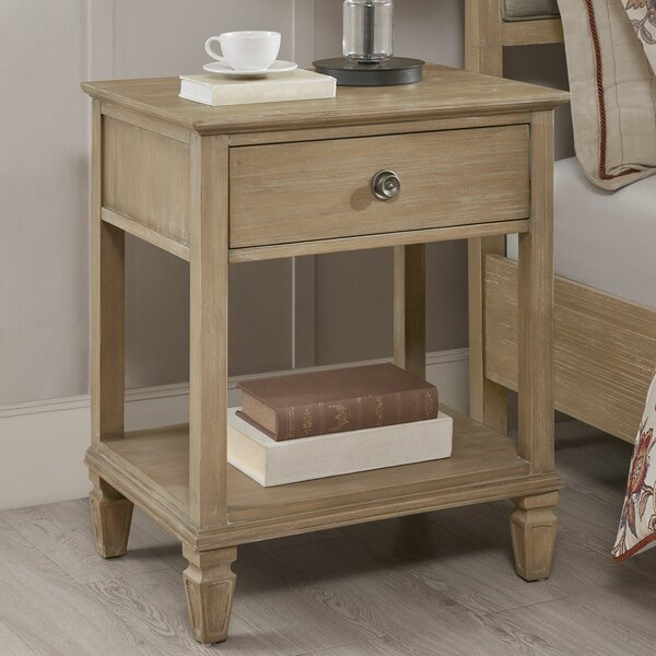 Victoria Bedside 1 Drawer Nightstand by Madison Park Signature