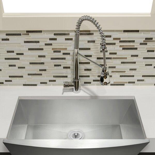 33 x 22 Farmhouse Apron Stainless Steel Single Bowl Kitchen Sink by AKDY
