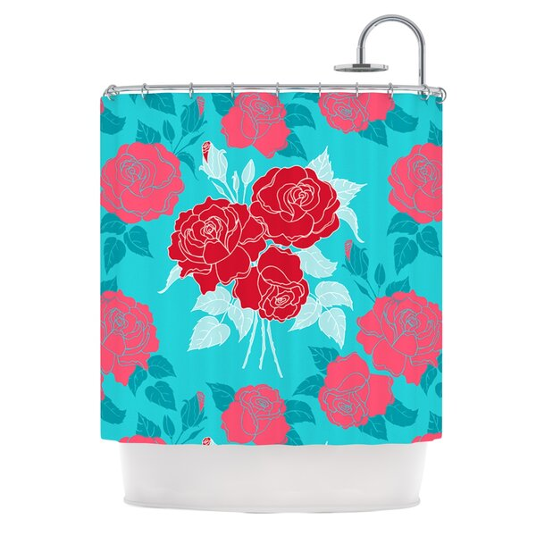 Summer Rose Shower Curtain by East Urban Home