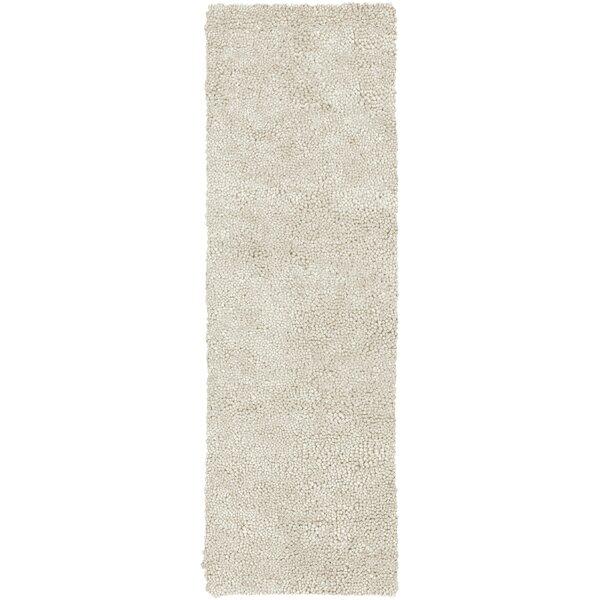 Bonney Handmade Flatweave Wool Cream Rug