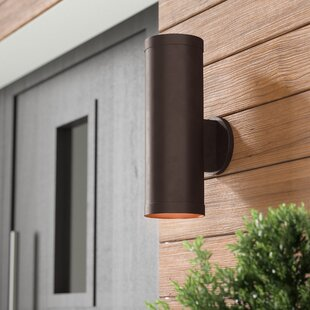 Affordable Braxton 2-Light Outdoor Metal Sconce By Wade Logan