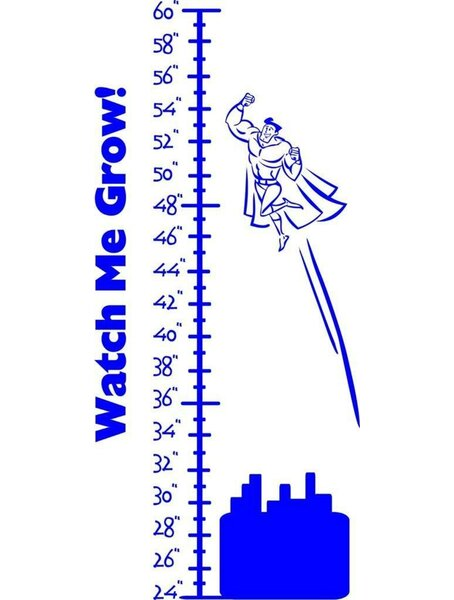 Superman Measurement Length Chart Wall Decal by Design With Vinyl