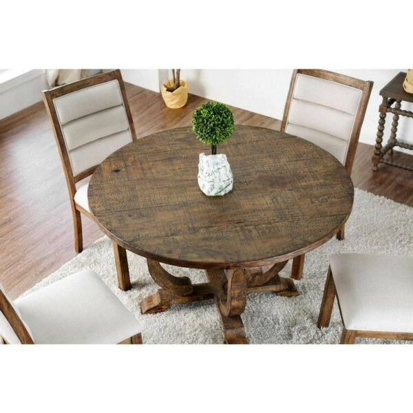 Dufresne Rustic Round Pub Table by Gracie Oaks Gracie Oaks