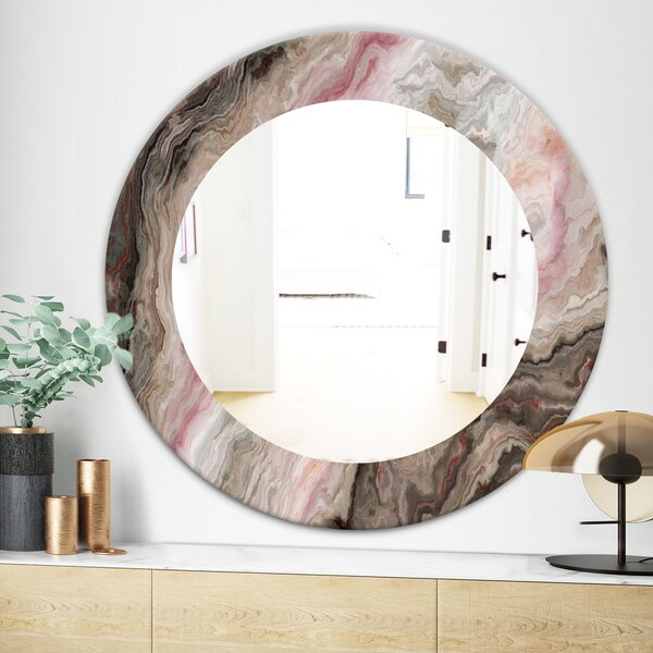Marbled Geode 17  Wall Mirror