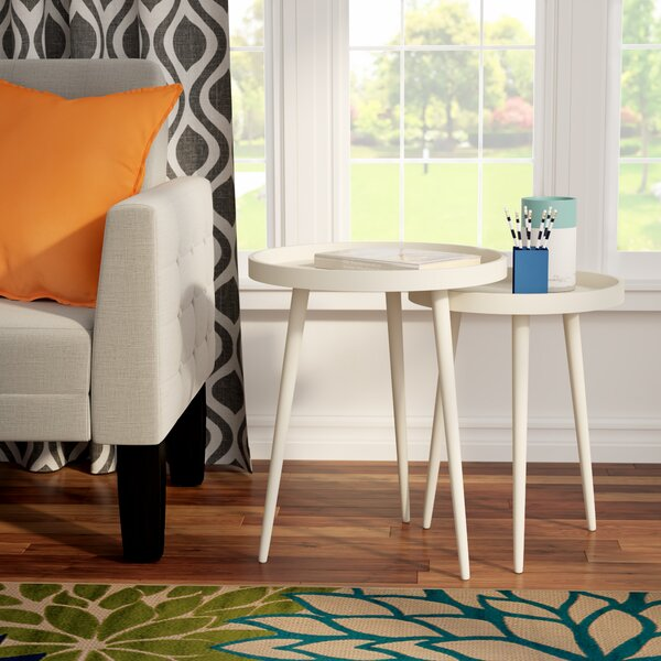 Roberta 2 Piece Nesting Table Set by Langley Street