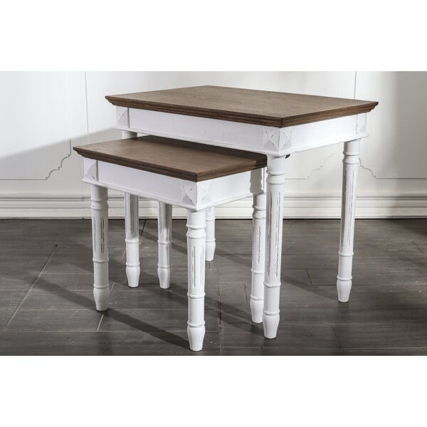 Madison 2 Piece Nesting Tables by August Grove
